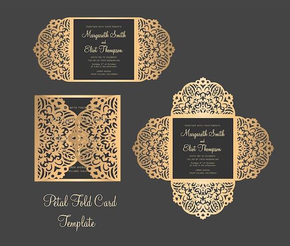 Wedding Invitation Card Templatequinceanera Invitation Etsy