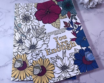 Feel Good Inspirational Loose pages Coloring Book.