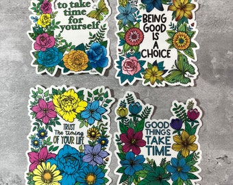 Feel Good Stickers - White Matte or Clear Glossy