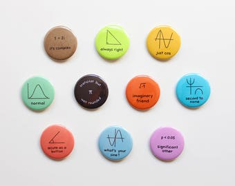 Analysis With an Introduction to Proof Math Nerd Button Badges - Nerd