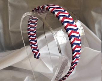 Red White and Blue Ribbon Headband