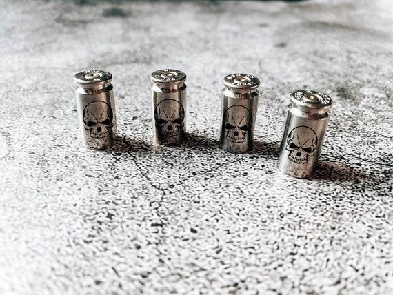 Bullet Valve Stem Caps - Valve Stem Caps- Set of 4 or 2 -Silver Valve Stem Cap-Christmas Gift-Stocking Stuffer-Men's Present-Gifts For Him