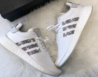 d3008cd61457b3 Crystal Adidas NMD R2 Luxus Sneaker Bling mit Swarovski Elements weiß