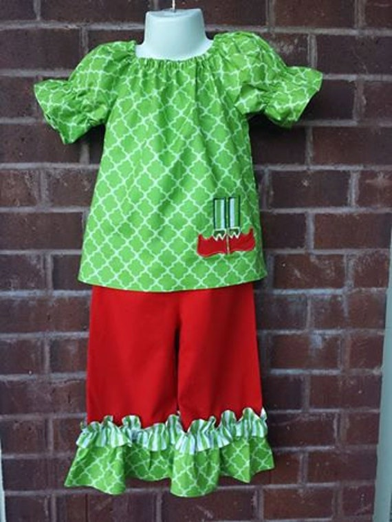 image 0 - Girls Christmas Outfit Christmas Boutique Clothing Girls Etsy
