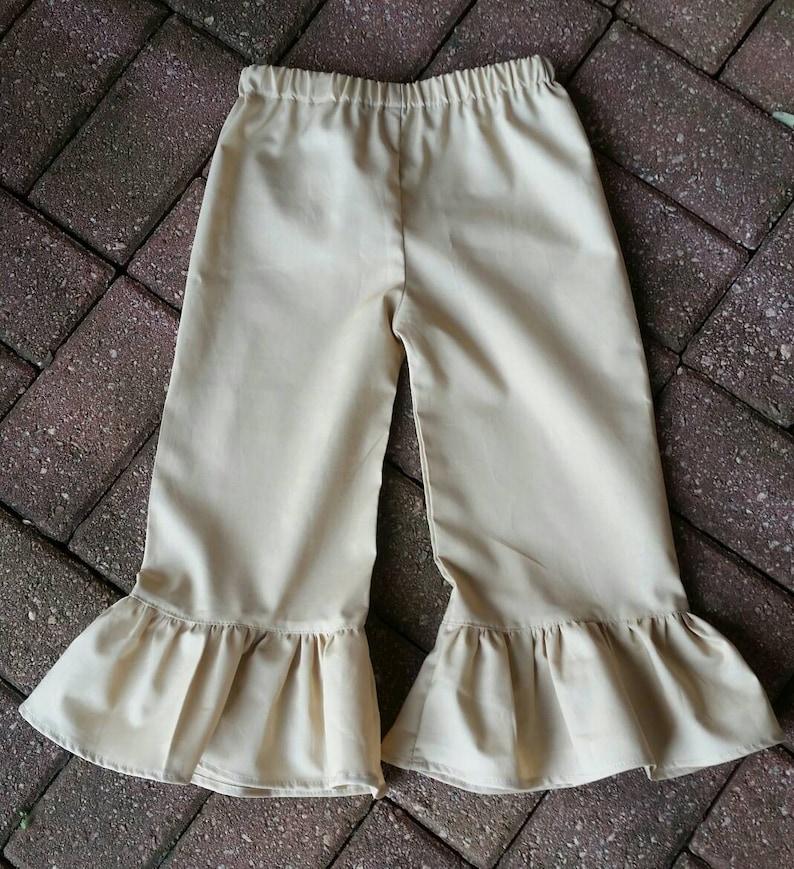 Ruffle pants, school pants, khaki pants, Navy pants, school uniform pants,  custom pants, boutique pants
