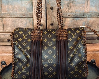 3959cd061563 Authentic Revamped Louis Vuitton Fringed Speedy