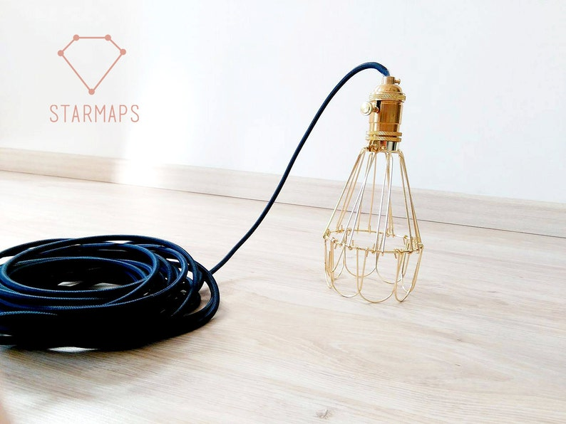 Kronleuchter Für Steckdose ~ Lampe lampenschirm käfig metall steckdose kabel etsy