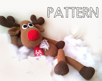 Small reindeer amigurumi pattern - Amigurumi Today | 270x340