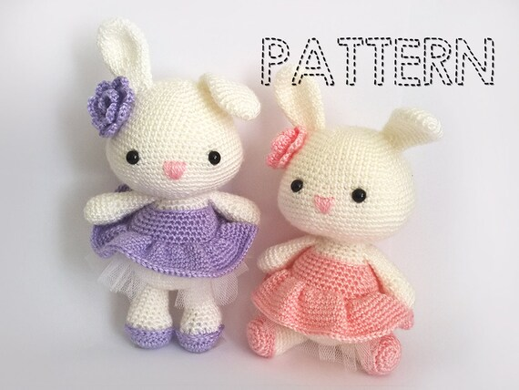 Sale Easter Bunny In Dress Crochet Patterns Ballerina Doll Etsy
