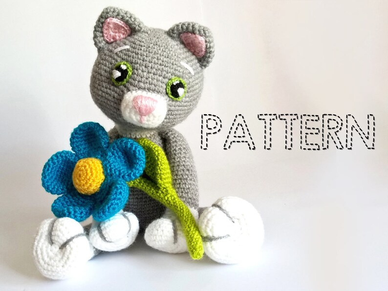 Sale Easter Crochet Patterns Cat Kitty Amigurumi Animals Etsy