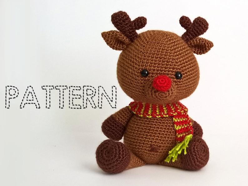 SALE Crochet Christmas Deer PATTERNS, Rudolph Toy Reindeer Amigurumi  Animals Tutorial, Stuffed Toys, Chrstmas Decorations, Rudolf Crochet