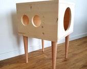 Cat House, Cat Bed, Cat Hideaway, Cat Furniture, Modern Cat Cabinet made of spruce wood