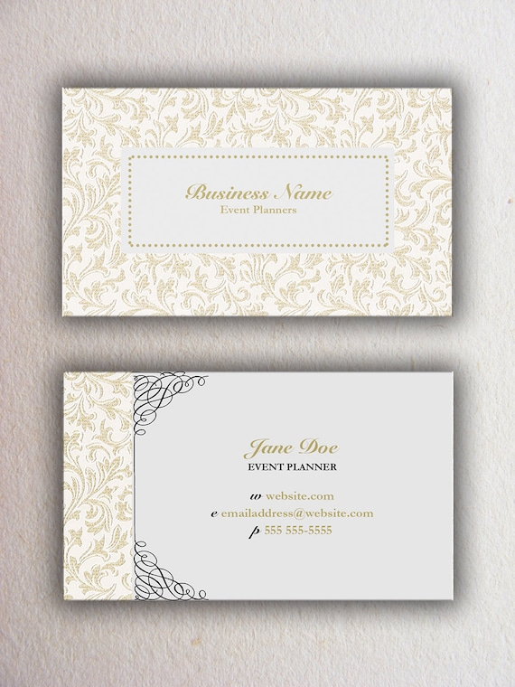 Event planner custom business card template etsy image 0 cheaphphosting Choice Image