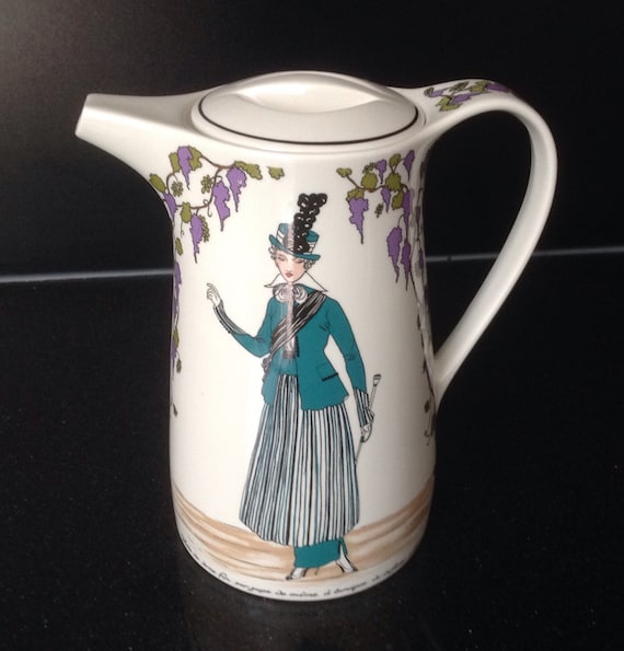 Villeroy And Boch Design 1900 Lidded Coffee Pot Art Nouveau Etsy