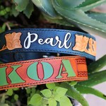Leather Tooled Dog Collar - Custom Made to Order - Personalized - By RF Tack - Endless Design Options!