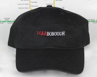 Scar-borough! 100% Cotton 416 Dad Caps. Original, Custom, Strap backs, CN Tower, The 6ix, 416 Hats, 647, GTA, YYZ
