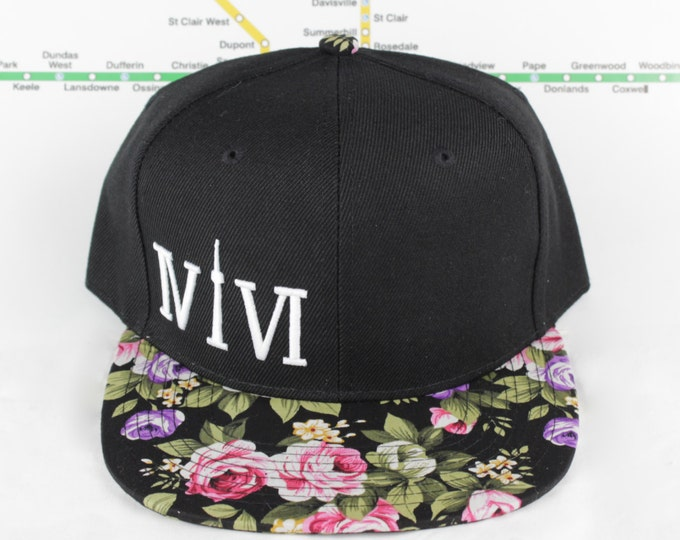 Featured listing image: Floral Fresh and Fly! Beautiful 416 hats. Original, Custom Unisex Snap backs, CN Tower, The Six, 6ix, Area Code 416 Roman Numerals, OVO, !