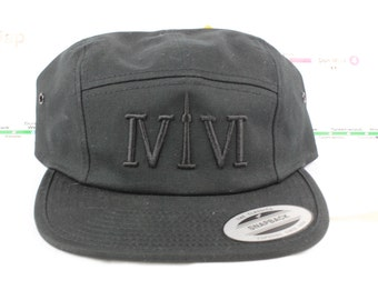 Black on Black 416 5ive Panel Hats! YYZ, GTA, 416, OVO Drake, The 6ix, Area Code, T Dot, Toronto, Ontario, Canada, The Weeknd, Six, 6, ivivi