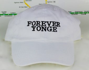 "Limited Edition Sale Forever Yonge! White ""416"" Dad Caps. Original, Strap backs, The 6ix, 416 Hats, 647, GTA, YYZ, Yonge St., Toronto!"
