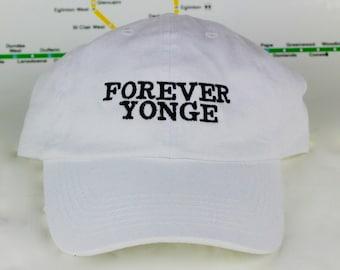 "Limited Edition Sale Forever Yonge! White ""416"" Dad Caps. Original, Strap backs, The 6ix, 416 Hats, 647, GTA, YYZ, Yonge St., Toronto!"