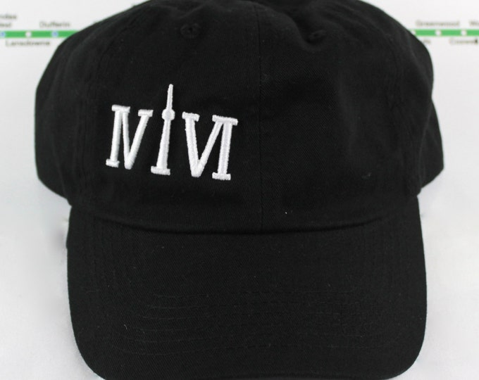 Featured listing image: Le Hat! 100% Cotton 416 Dad/Polo Caps. Original, Custom, Strap Backs CN Tower, YYZ, GTA The Six, 6ix, Area Code 416 Hats With Roman Numerals