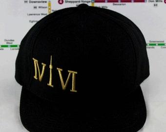 Gold Threaded Head Gem! 416 Snap Back Hat. Unique, Beautiful, Custom, Original, Four One Six, The 6, YYZ, Raptors, Drake, OVO Toronto