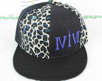 Electric Blue Cheetah Mroooowwr! Original, Custom, One of a Kind, Snap backs, CN Tower, The Six, 6ix, Area Code, 416 Hats, Roman Numerals