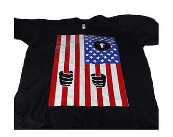 The Lockdown in Colour! 416 and Company quality T-shirts. USA, US Flag, Lockdown, Racism, No One Is Illegal, Canada Loves You
