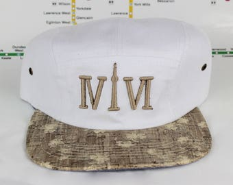 "Come Correct! White Cork 416 5ive Panel Hats! The Roman Numerals Stand For ""416"", With The ""1"" Resembling The CN Tower! YYZ, GTA, ovo, Drake"