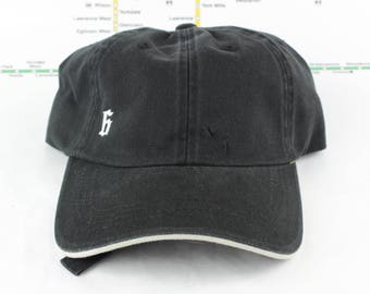 "Sale! Down Low, Low-Key ""The 6"" Hat! 100% Cotton Unstructured 416 Toronto Dad Caps with a White Sandwich Brim (black on top and underneath)"
