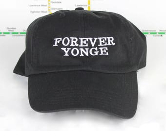 Limited Edition and Sale! Forever Yonge! 100% Cotton 416 Dad Caps. Original, Custom, Strap backs, CN Tower, The 6ix, 416 Hats, 647, GTA, YYZ