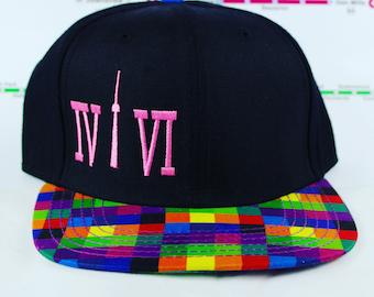 SALE ITEM!! 416 Rainbow Brimmed Original, Custom, Snap backs! CN Tower, The Six, 6ix, Area Code, 416 Hats, Roman Numerals, yyz, gta, ovo!