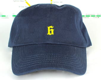 """Polo-Style """"The 6"""" Collection Navy Dad Hats! 100% Cotton, Unstructured """"416"""" Toronto Dad/Polo Caps! YYZ, GTA, OVO, T Dot, The 6ix, Six, 6!,"""