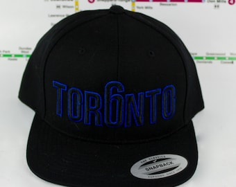 Beautifully Blue Tor6nto Hats! Original, Custom, GTA, YYZ, Snap backs, CN Tower, The Six, 6ix, Area Code, 416 in Toronto, Roman Numerals!