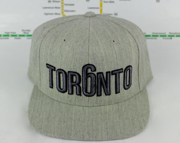Featured listing image: Premium Heather Grey-tness Toronto Custom Hats. 3D Raised Embroidery On High Quality Unisex Hats. 6ix, GTA, YYZ, OVO, Toronto, 416, Tor6nto