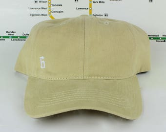 The 6 Minimalist Soft Tan Dad Hats. Original, Custom Strap backs, CN Tower, The Six, 6ix, Area Code, 416 Hats, 647, Roman Numerals