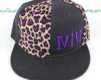 Mroooowwr! Electric Purple Cheetah Snap backs! Original, Custom, CN Tower YYZ, GTA, ovo The Six, 6ix, Area Code 416 Hats with Roman Numerals
