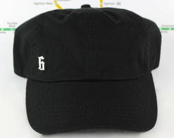 "Minimalist ""The 6"" Collection Black Dad Hat! 100% Cotton, Unstructured ""416"" Toronto Dad/Polo Caps! YYZ, GTA, OVO, T Dot, The 6ix, Six, 6!,"