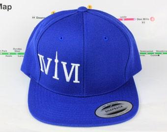 Toronto's Very Own Blue! Beautiful 416 hats. Original, Custom Snap backs, CN Tower, The Six, 6ix, Area Code, 416 Hats, Roman Numerals