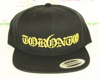 New Metallic Gold Tor6nto Rep'n Snap Back Hat! YYZ, GTA, Tor6nto, Golden, 416, Roman Numerals, T Dot, The 6ix, Six, 6, Unisex, Bling!