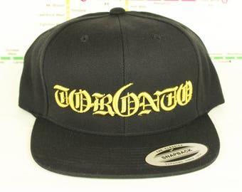 New Metallic Gold Tor6nto Rep'n Snap Back Hat! YYZ, GTA, Tor6nto, Golden, 416, Roman Numerals, T Dot, The 6ix, Six, 6, Unisex, Bling!