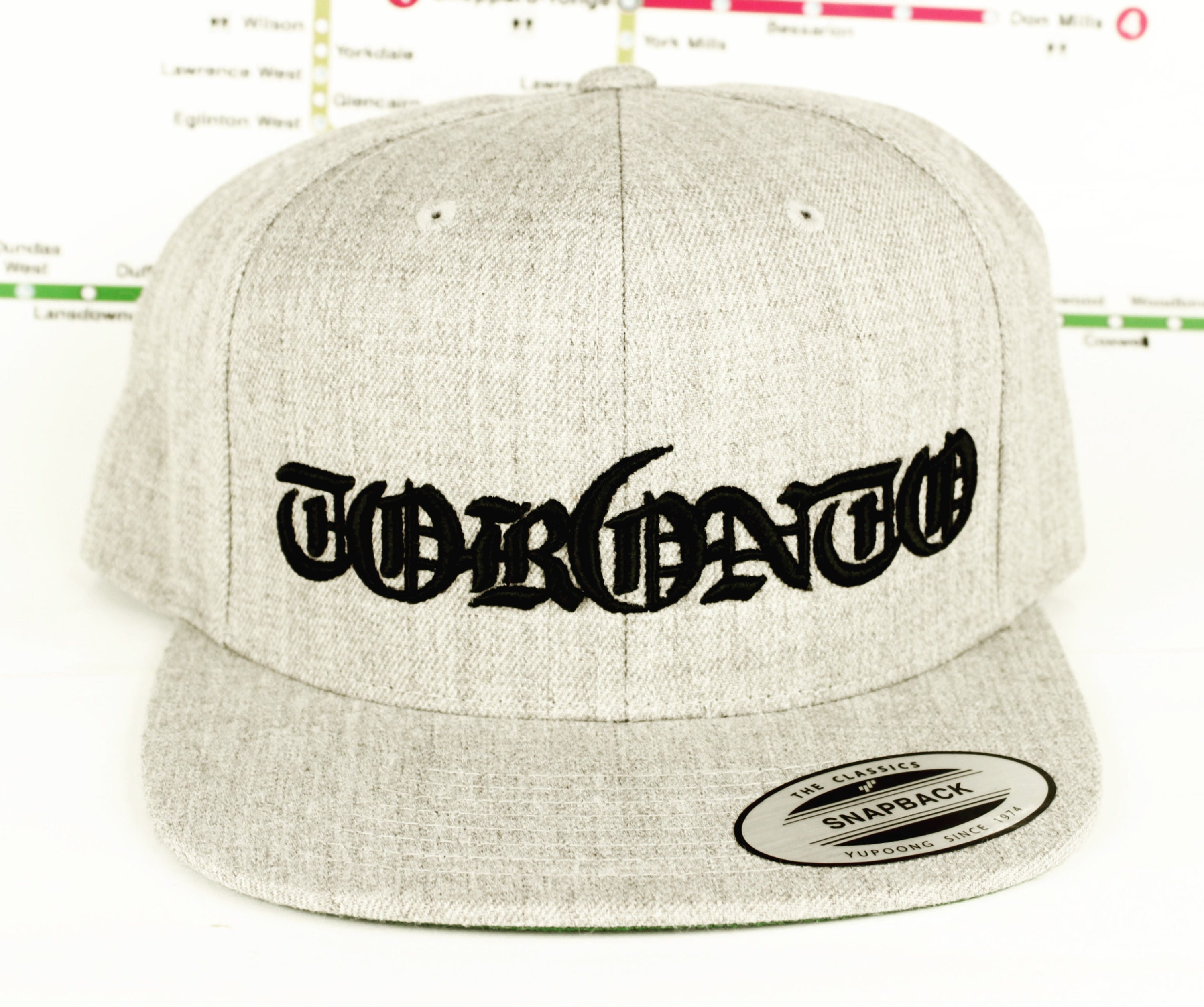 Grey-ter Tor6nto Area Custom Snap Back Hats  3D Raised