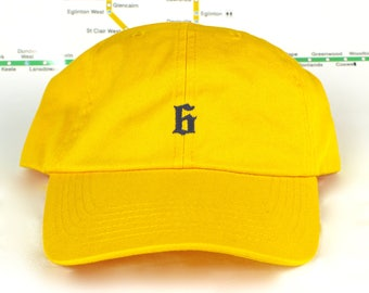 """Polo-Style """"The 6"""" Collection Yellow Dad Hat! 100% Cotton, Unstructured """"416"""" Toronto Dad/Polo Caps! YYZ, GTA, OVO, T Dot, The 6ix, Six, 6!,"""