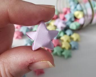 Pastel Rainbow Origami Stars: Pink - Yellow - Green - Blue - Purple - Mini Star Decorations - Folded Paper - LGBT Party
