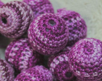 Agent Purple Crocheted Beads Lot of 14 Beads