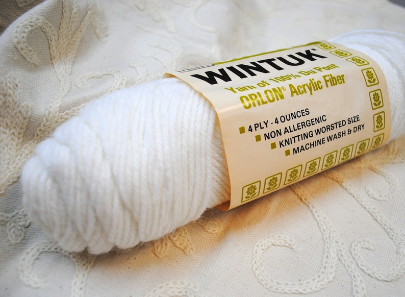 Wintuk Brand Acrylic Yarn in White