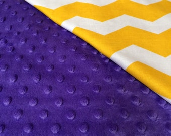 Blanket, Minky Blanket, Baby Blanket, LSU Blanket