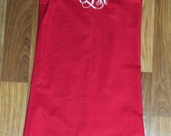 Dress, Girls' Dress, Monogrammed Dress, Red Dress