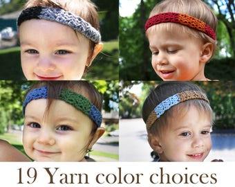 Baby Boy Crochet Headband   Gifts for Baby Boys   Toddler Boy Headband    Kid Headband   Boy Hair Accessories   Boy Hairband   Baby BoyBand b13602f005a