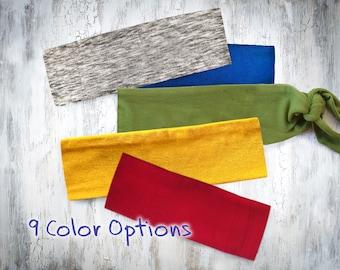 Solid Color Kid's Headband / Boy Headband, Unisex Fabric Hairband, Toddler Headband, No-Tie Headband, Baby Boy Bandana, Kid Headband